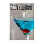 Blue Martini Invite Postcard