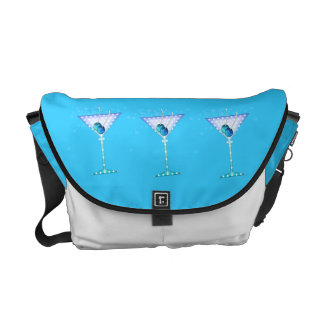 BLUE MARTINI MESSENGER BAG