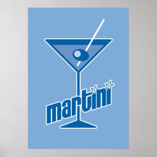 blue martini poster