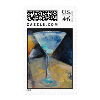 Blue Martini Stamp