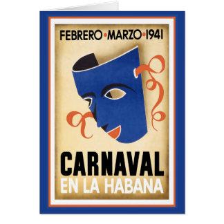 Blue Mask for Carnaval Card