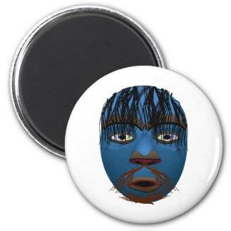 Blue Mask 2 Inch Round Magnet
