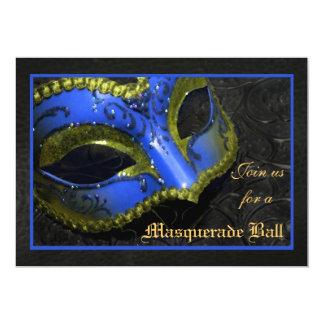Blue Mask Masquerade Ball Halloween Invitation