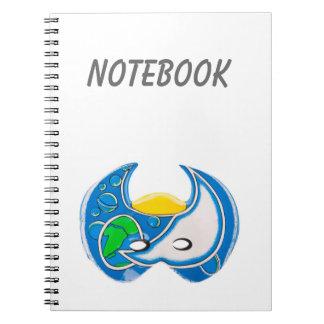 Blue mask notebook