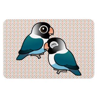 Blue Masked Lovebird Adorable Pair Magnet