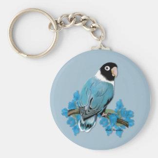 Blue Masked Lovebird Keychain