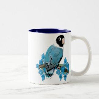 Blue Masked Lovebird Mug