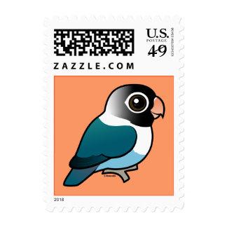 Blue Masked Lovebird Postage Stamps