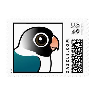 Blue Masked Lovebird Stamp