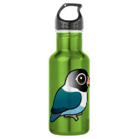 Blue Masked Lovebird Water Bottle (24 oz)