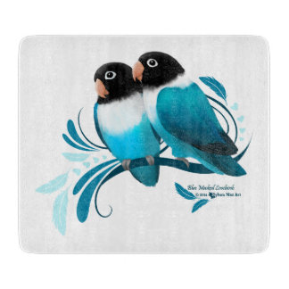 Blue Masked Lovebirds Cutting Board
