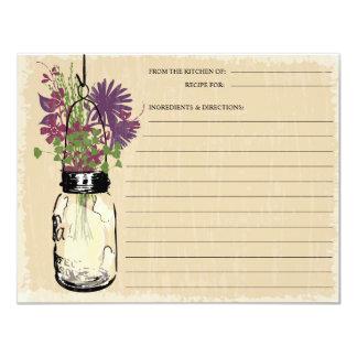 Blue Mason Jar Recipe Card