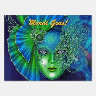Blue Masquerade Ball! Party Sign