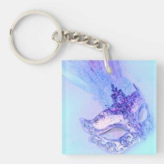 Blue Masquerade Keychain