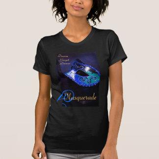 Blue Masquerade Mask Ladies Halloween T-Shirt
