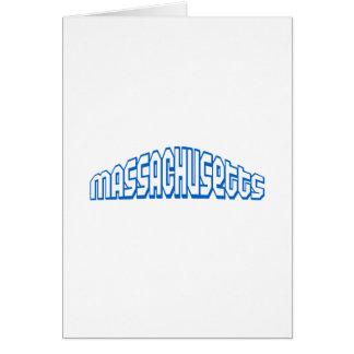 Blue Massachusetts Stationery Note Card