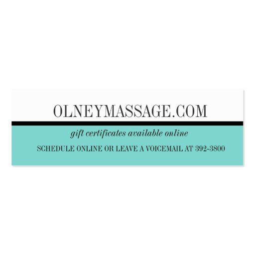 blue massage and spa contact card business card template