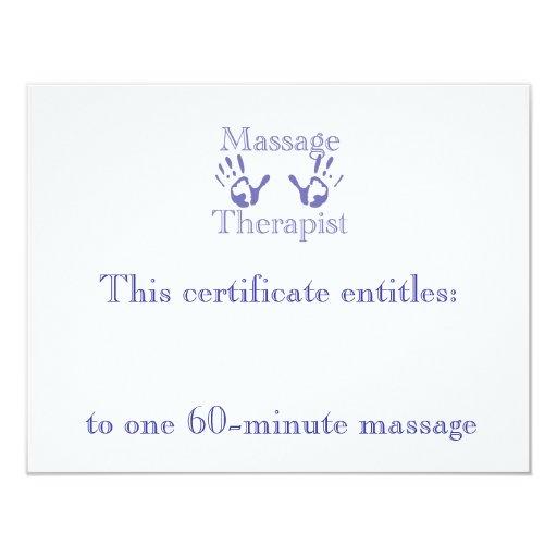 Blue massage hands gift certificate custom announcement zazzle for Zazzle gift certificate