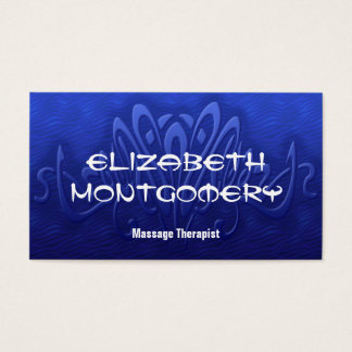 Blue Massage Therapy Spa Appointment Business Card