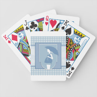 blue maternity bicycle playing cards