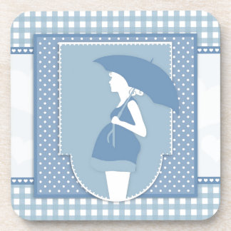 blue maternity coaster
