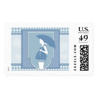 blue maternity postage postal stamps