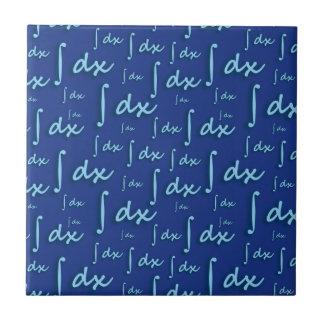 Blue Math integral - Integral Mathematics Blue Ceramic Tiles