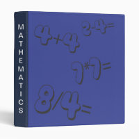 Blue Mathematics Avery Binder