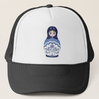 Blue Matryoshka Doll Trucker Hat