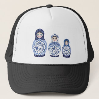 Blue Matryoshka Dolls Trucker Hat