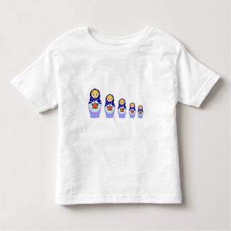 Blue matryoshka nesting dolls toddler shirt