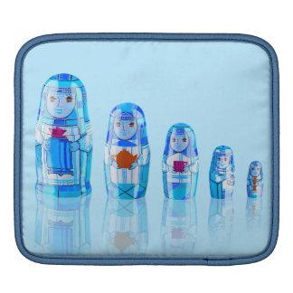 Blue Matryoshka Russian Dolls iPad Pad iPad Sleeve