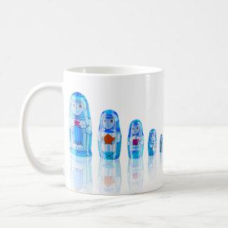 Blue Matryoshka Russian Dolls Mug