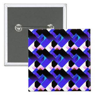 Blue mauve abstract design pinback buttons