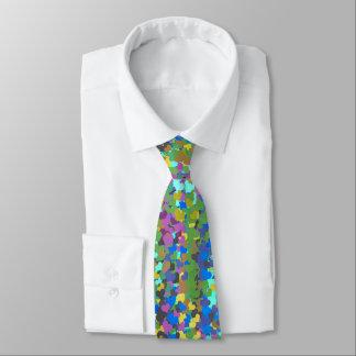 Blue Mauve Taupe Green Purple Aqua Confetti Hearts Tie