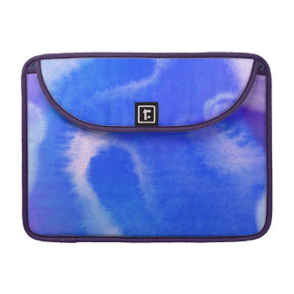 Blue-Mauve Water-color Art MacBook Sleeve