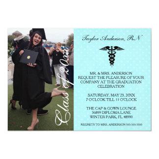 Blue Medical RN School Graduation Announcement