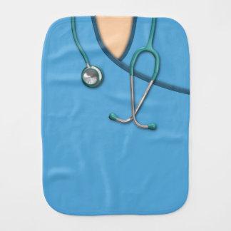 Blue Medical Scrubs Baby Burp Cloth