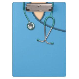 Blue Medical Scrubs Clipboard