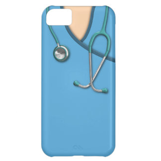 Blue Medical Scrubs Cover For iPhone 5C