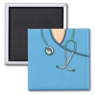 Blue Medical Scrubs 2 Inch Square Magnet