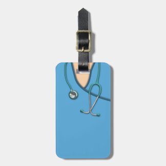Blue Medical Scrubs Tag For Luggage