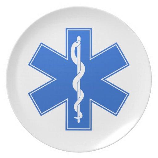 Blue Medical Sign Plates