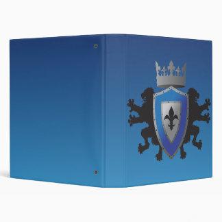 Blue Medieval Lion Heraldry School Binder