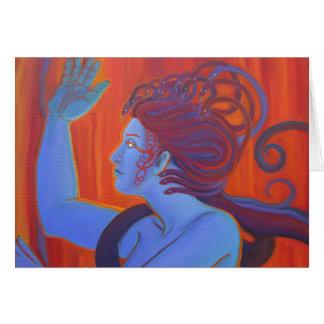Blue Medusa Card
