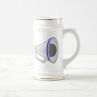 Blue Megaphone Beer Stein