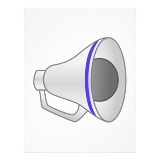 blue megaphone letterhead template zazzle. Black Bedroom Furniture Sets. Home Design Ideas