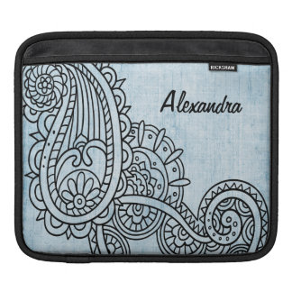 Blue Mehndi Motif iPad Sleeve