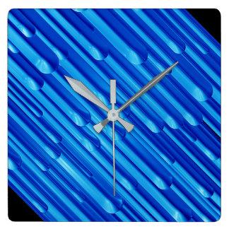 Blue Melt Square Wall Clock