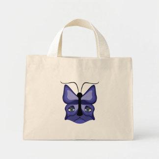 Blue Meow Mask Mini Tote Bag